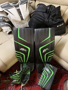 Selling Brian Optik Pro Goal Pads and Glove Set