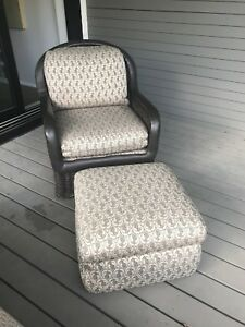 Antique Wicker Lounge Chair