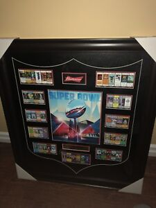 Framed super bowl collectible