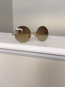 NEW Chrome Hearts 'OVARYEASY II' Sunglasses, Yellow Gold Flated