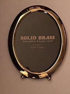 Solid Brass Oval Picture Frame