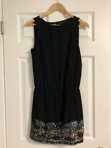 Zara Black Sequin Cocktail Dress - Small
