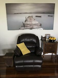 Real Leather Recliners x 2 Price Each $200 Banora Point Tweed Heads Area Preview