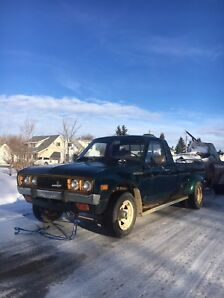1978 DATSUN 620 DUALLY WITH MATCHING TRAILER