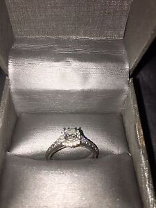 One lady's 14 karat white gold engagement ring $2000 obo