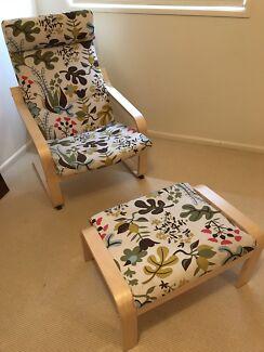 IKEA Poang chair & footstool