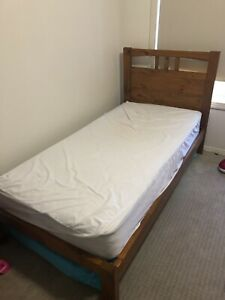 Solid timber single bed