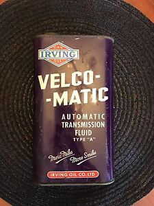 Irving velco matic oil can