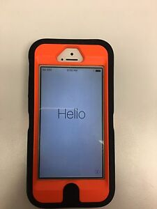 iPhone 5 w/ camo/hunter orange otter box