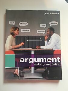 """""""Argument and Argumentation"""" Textbook + Study Guide"""