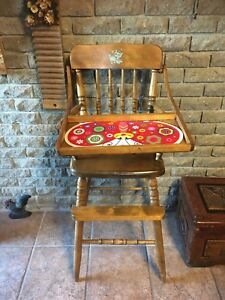 Old Vintage Bass River children high chair