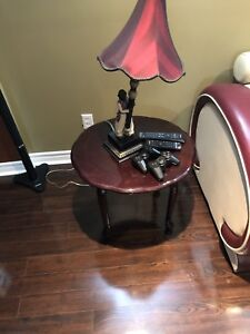 MOVING SALE - Two dark brown end tables