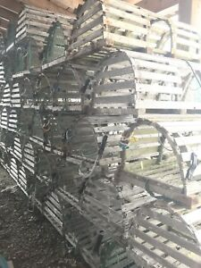 Lobster traps and lobster crates