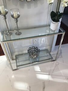 Glass Hall Table (BRAND NEW IN BOX - not the one in the picture)