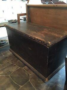 Antique PINE BLANKET BOX $180