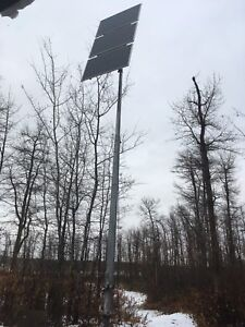 Solar panels and nova pole