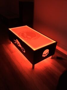 One of a kind Harley Davidson coffee table