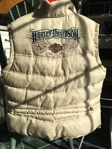 Authentic Woman's Harley Davidson Embroidered Down Vest (XL) New