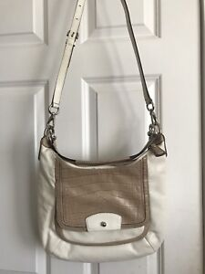 Authentic Coach cross-body leather purse