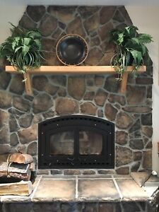 Fireplace manufactured stone