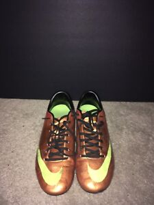 Orange Nike Mecurial cleat Size 8.5