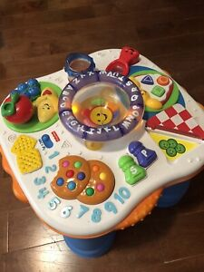 fisher price toddler game table
