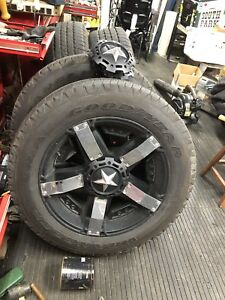 20 inch Rockstar rims Goodyear tires