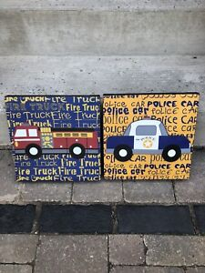 Fire truck and police car pictures for child toom