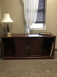 Solid Wood Hutch with Cabinet