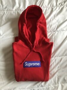 """Authentic Supreme Box Logo Hoodie """"Red FW17"""" Small w/ Reciept"""