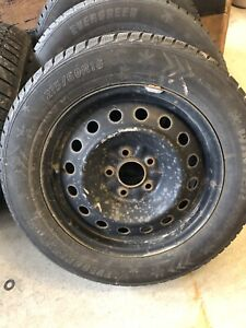 Snow tires and rims