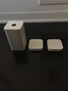 Apple Airport Extreme + 2 Airport Expresses