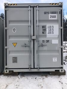 10by10 6 High Cube container.