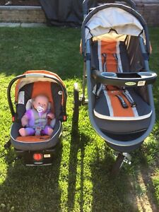 Graco  jogging stroller and with carseat