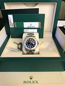 Rolex yacht master stainless blue dial platinum bezel Norwood Norwood Area Preview