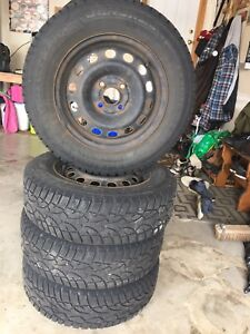 Altimax artic winter tires on 4x100mm rims