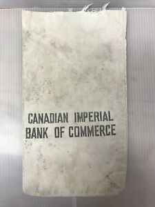 CIBC Canvas Cloth Bank Deposit Bag #1