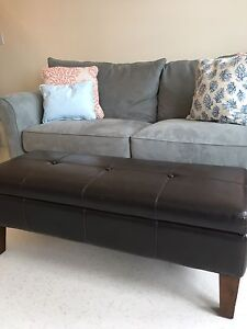 Beautiful Soft Leather Ottoman / Can be used as a coffee table