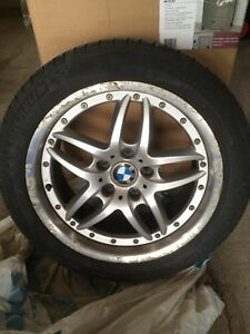 "BMW 17"" Rims and Michelin Tires."