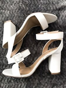 Nasty Gal White Block Heels