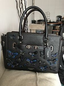 Reduced! Coach Purse with butterfly decals. Never used.