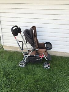 Sit and stand stroller