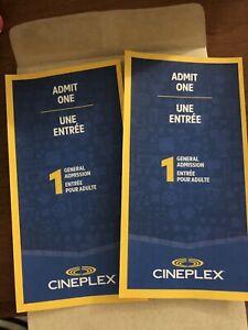 2 cineplex tickets