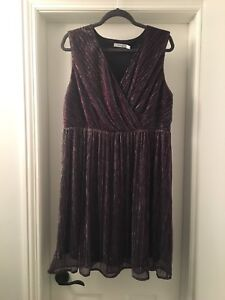 Ricki's Metallic Thread Empire Dress Size 14 (BNWT)