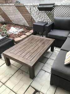 HIGHEND CANVAS COLLECTION OUT DOOR COFFEE TABLE DARK BROWN MINT