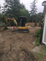 Excavator and operator for hire