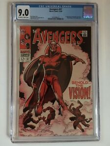 Avengers #57 CGC 9.0 First app of silver age Vision.