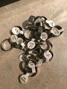 Stainless Steel Rings Assorted Sizes