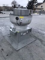 Commercial kitchen exhaust make up air unit kitchen hoods