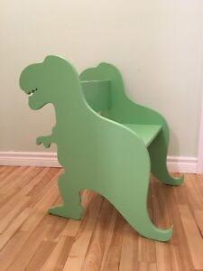 Kids dinosaur chairs and table
